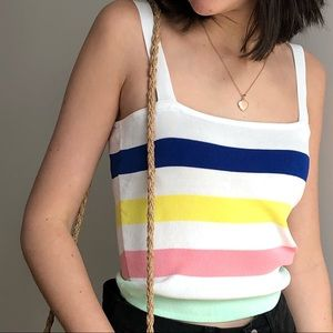 ⬇️ 24$ NWOT COLOR STRIPED TANK TOP - M